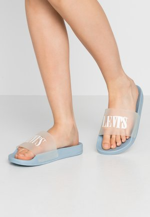 JUNE  - Sandales de bain - light blue