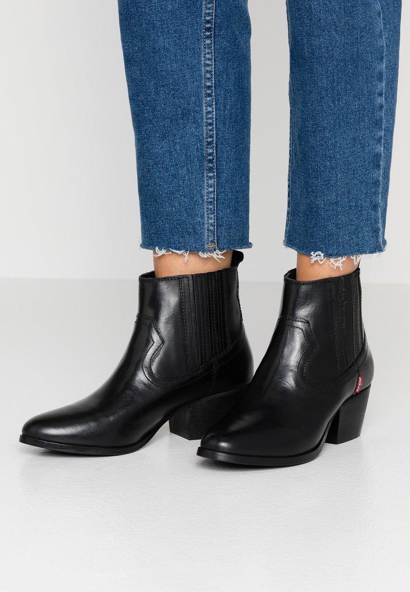 Levi's® - WESTERN FOLSOM - Ankle boots - regular black