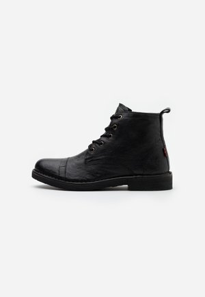TRACK - Lace-up ankle boots - brilliant black