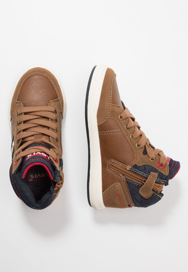 NEW MADISON MID - Baskets montantes - cognac
