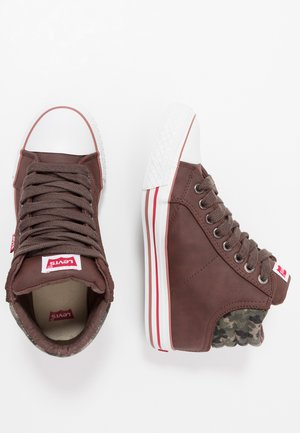 NEW YORK - High-top trainers - brown