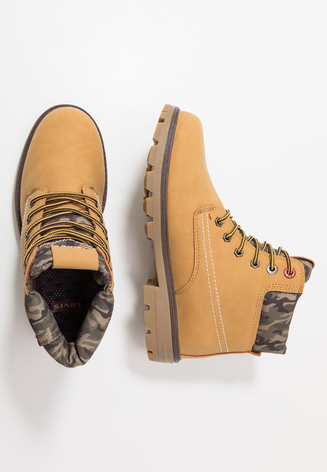 FORREST - Lace-up ankle boots - camel