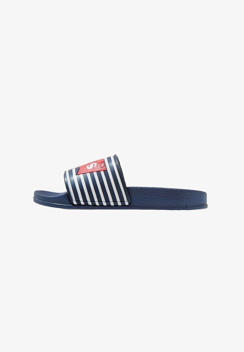Levi's® - POOL STRIPE - Pool slides - navy