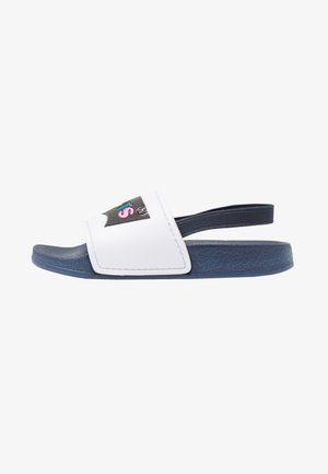 POOL - Sandals - white/navy
