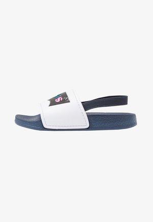 POOL - Sandalias - white/navy