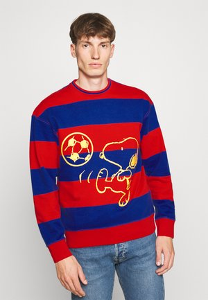 PEANUTS RELAXED CREW - Felpa - red/blue