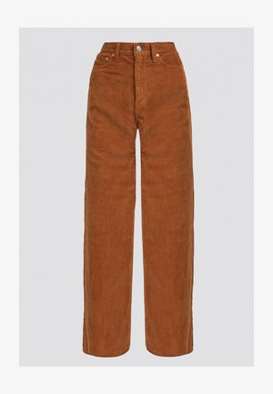 RIBCAGE CORD WIDE LEG - Flared jeans - caramel