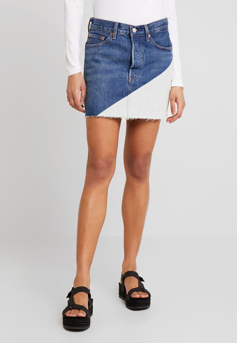 Levi's® - DECONSTRUCTED SKIRT - Jeansrock - blue denim