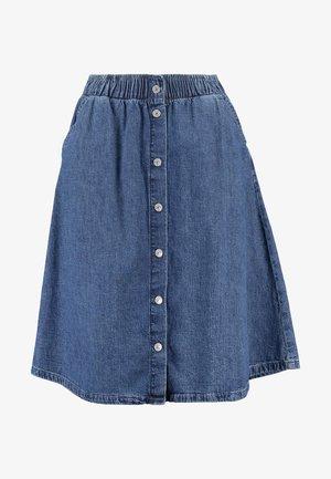 LIGHTWEIGHT MIDI SKIRT - Áčková sukně - blue denim