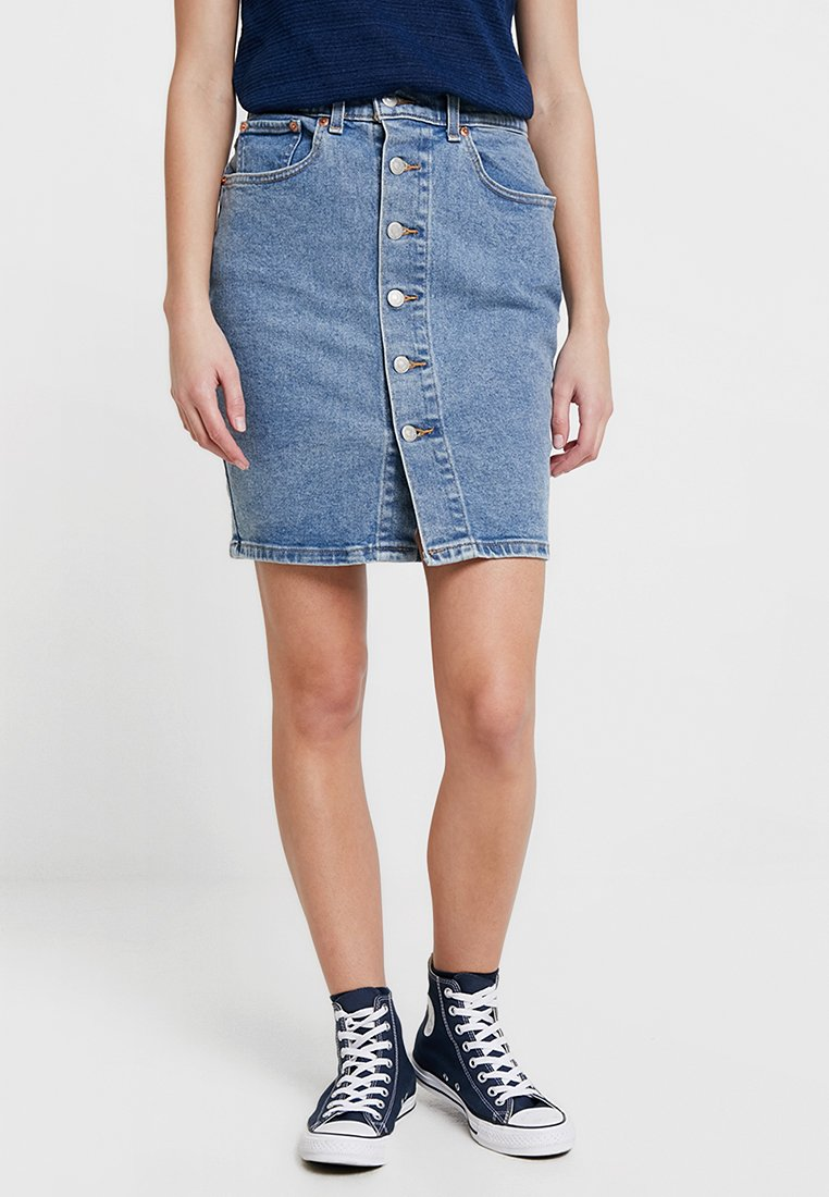Levi's® - BUTTON THRU MOM SKIRT - Jeansnederdel/ cowboy nederdele - mid race