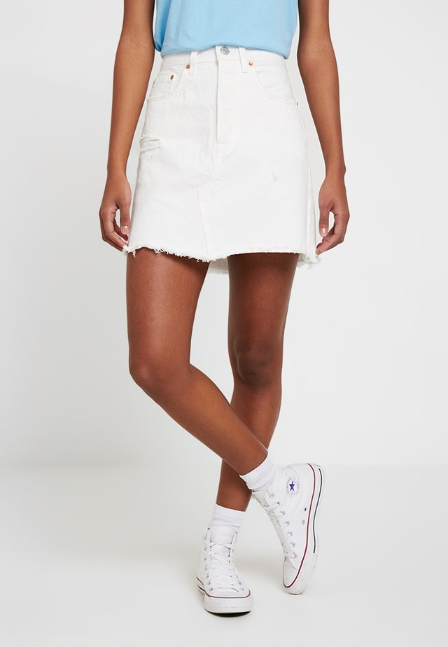 DECON ICONIC SKIRT - Falda acampanada - pearly white