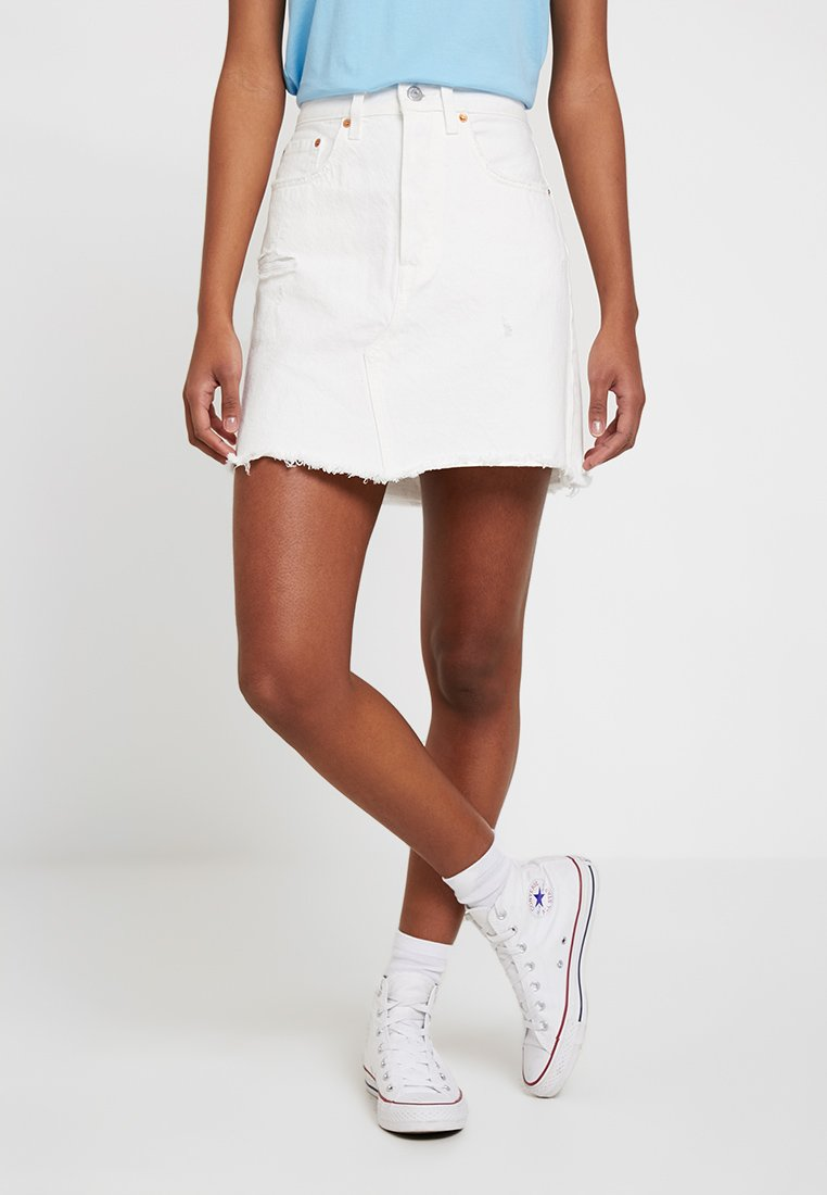 Levi's® - DECON ICONIC SKIRT - A-Linien-Rock - pearly white