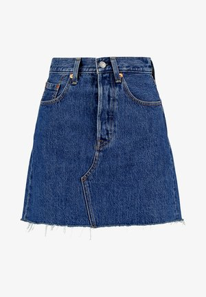 DECON ICONIC SKIRT - A-line skjørt - dark-blue denim