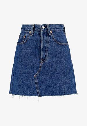 DECON ICONIC SKIRT - A-line skirt - dark-blue denim