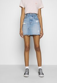 Levi's® - DECON ICONIC SKIRT - A-linjekjol - light-blue Denim - 0