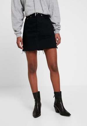 DECON ICONIC SKIRT - Falda acampanada - black denim