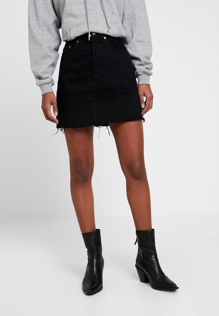 Levi's® - DECON ICONIC SKIRT - A-lijn rok - black denim