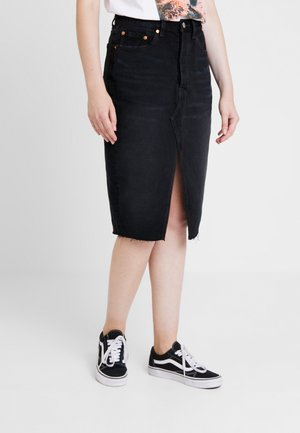DECONSTRUCTED MIDI SKIRT - Gonna a tubino - black