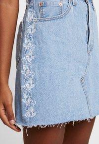 Levi's® - DECON ICONIC SKIRT NEEDLECRAFT - A-line skirt - med indigo - 4