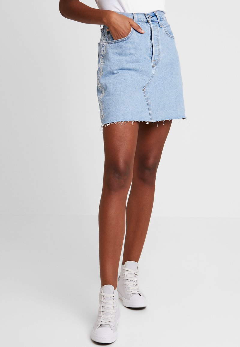 Levi's® - DECON ICONIC SKIRT NEEDLECRAFT - A-line skirt - med indigo