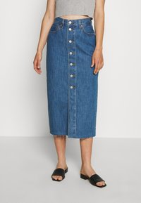 Levi's® - BUTTON FRONT MIDI SKIRT - Jupe crayon - middlebrook - 0