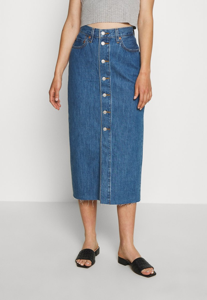 Levi's® - BUTTON FRONT MIDI SKIRT - Jupe crayon - middlebrook