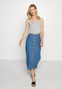 Levi's® - BUTTON FRONT MIDI SKIRT - Jupe crayon - middlebrook - 1