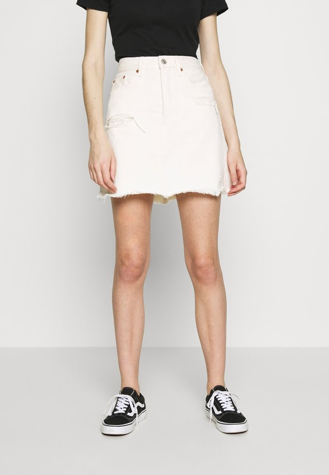 DECON ICONIC SKIRT - Falda vaquera - neutral ground