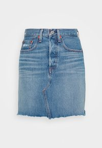 Levi's® - DECON ICONIC SKIRT - Spódnica trapezowa - stone blue denim