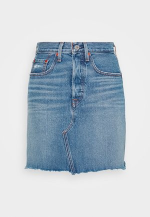DECON ICONIC SKIRT - A-lijn rok - stone blue denim