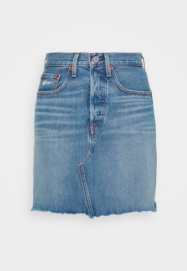 DECON ICONIC SKIRT - Jeanskjol - stone blue denim