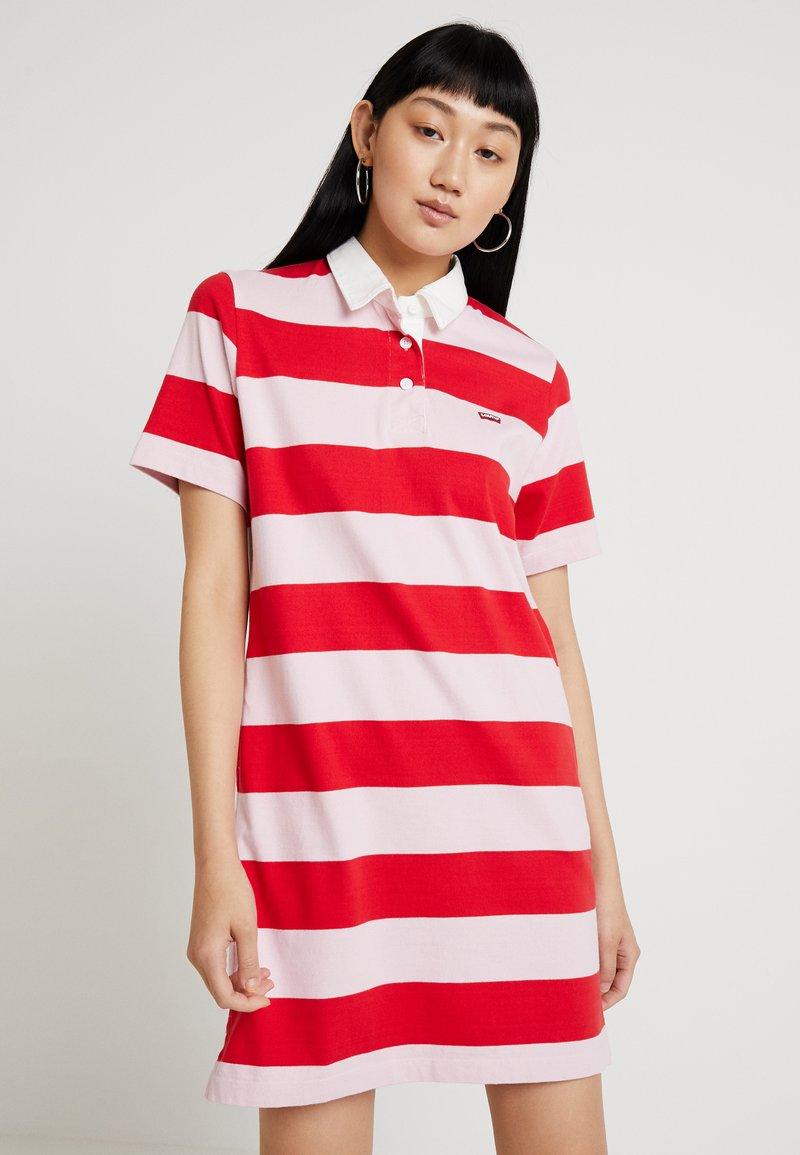 Levi's® - RUGBY DRESS - Pletené šaty - reece pink lady