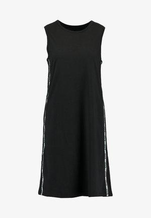 LOGO TAPE DRESS - Jersey dress - meteorite