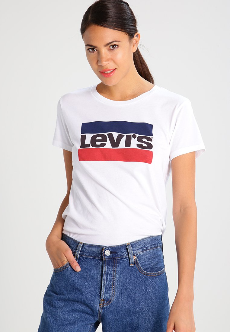 Levi's® - THE PERFECT - T-shirt con stampa - white