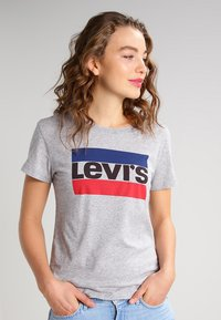 Levi's® - THE PERFECT - Printtipaita - grey - 0
