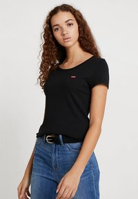Levi's® - TEE 2 PACK - T-shirt - bas - white/mineral black - 0