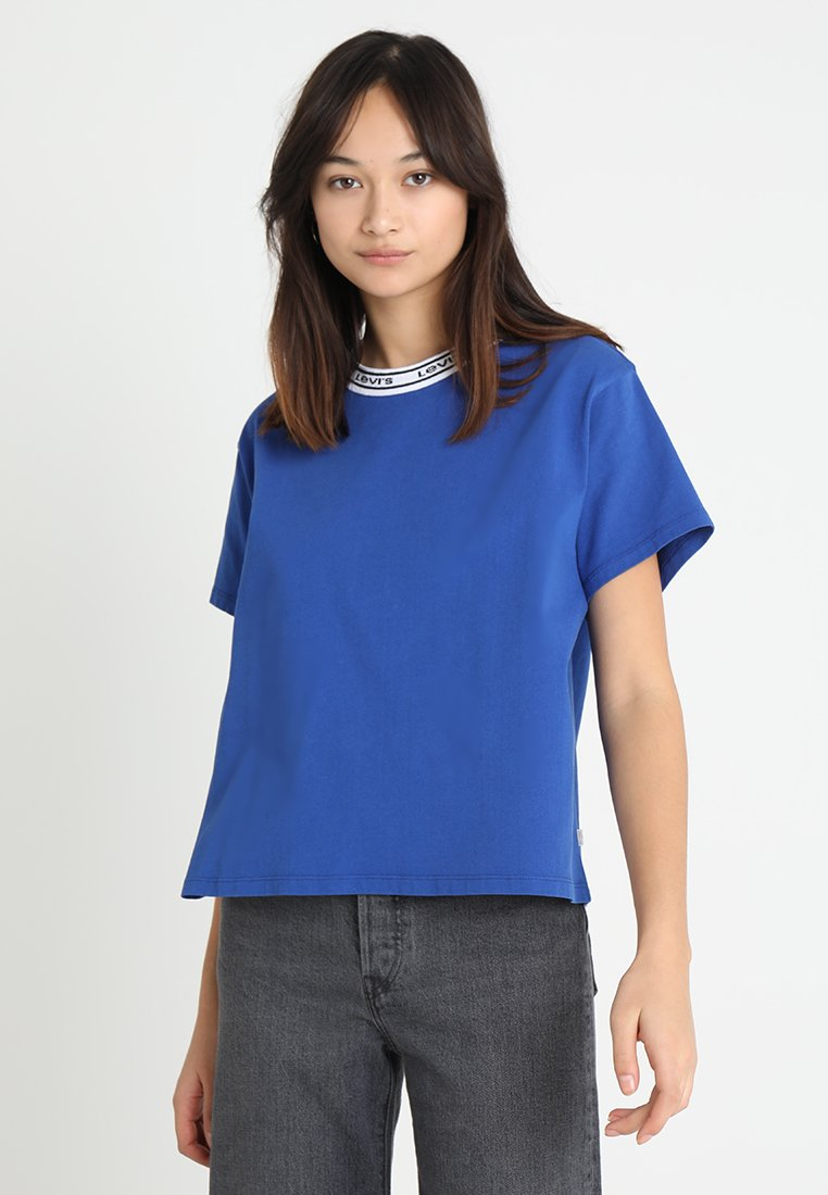 Levi's® - VARSITY TEE - T-shirt con stampa - surf blue