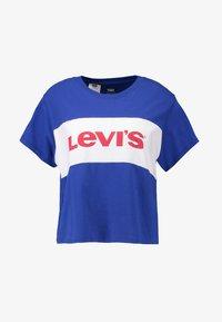 Levi's® - GRAPHIC VARSITY TEE - Print T-shirt - surf blue/white - 3