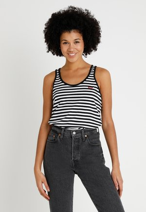 BOBBI TANK - Top - liza mineral black/white