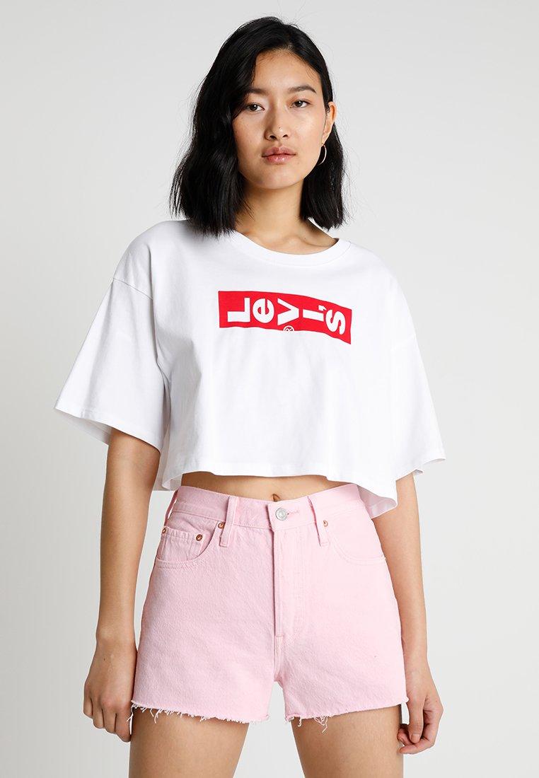 Levi's® - GRAPHIC CROP SLACKER TEE - T-Shirt print - white