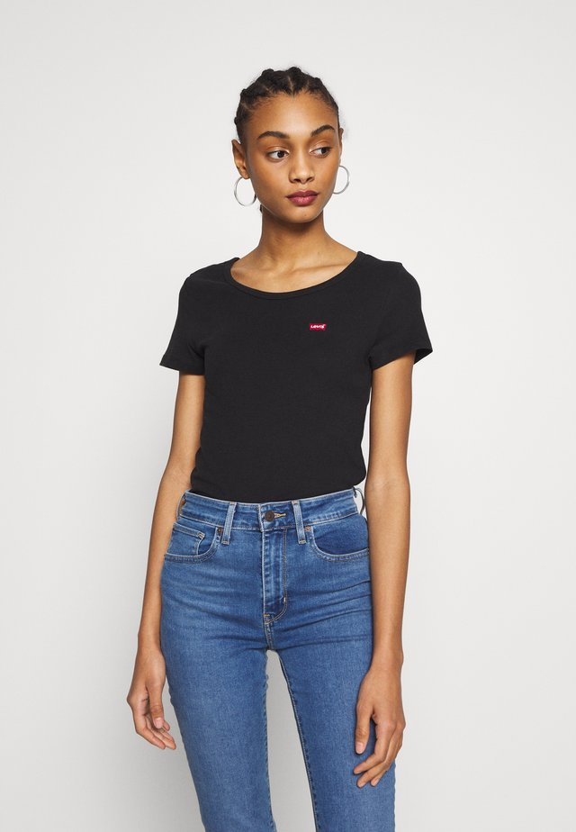 TEE 2 PACK - T-shirt - bas - mineral black/mineral black