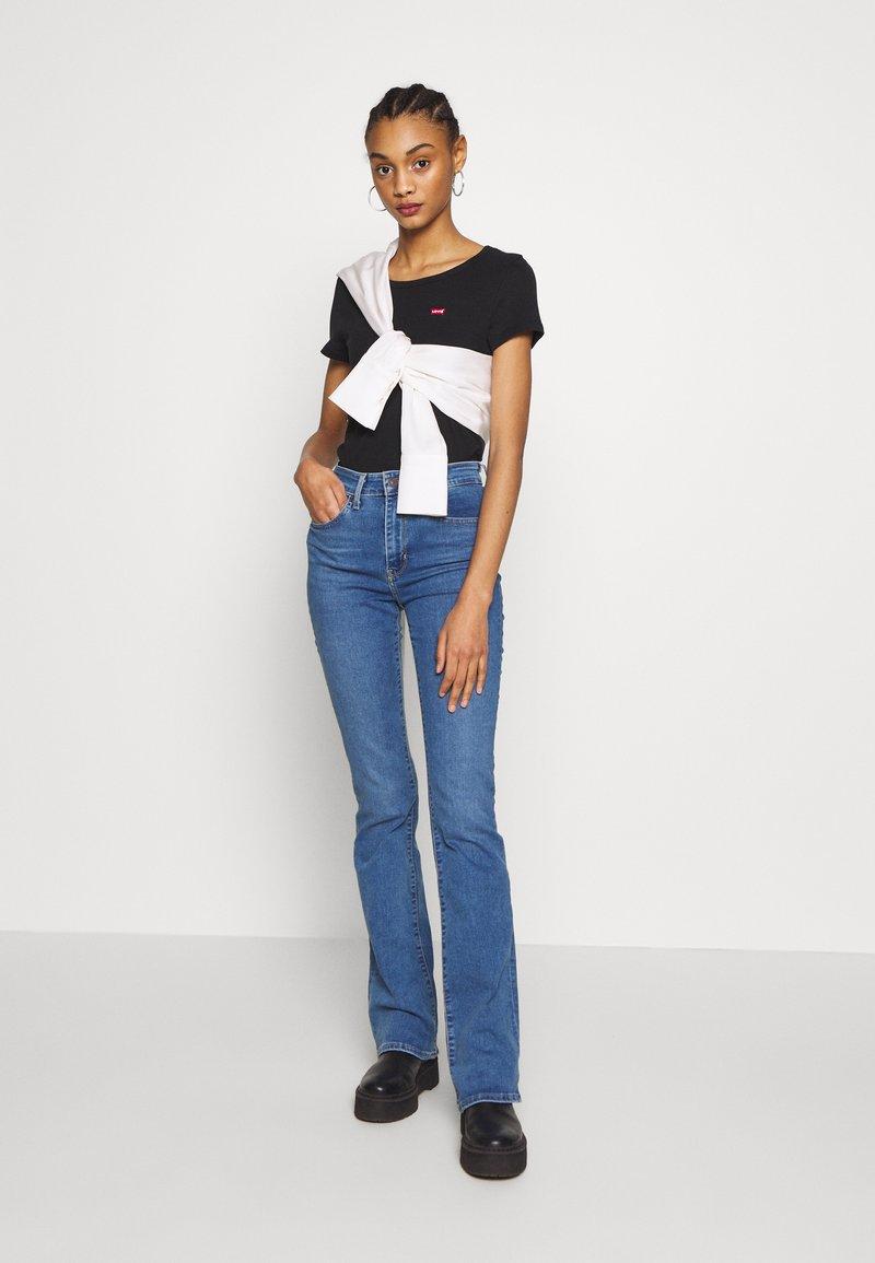 Levi's® - TEE 2 PACK - T-shirts - mineral black/mineral black