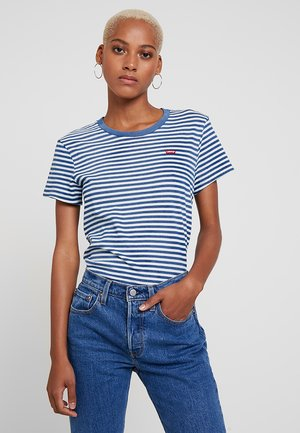 PERFECT TEE - T-shirt print - raita indigo