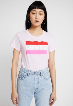 THE PERFECT TEE - Triko s potiskem - pink lady