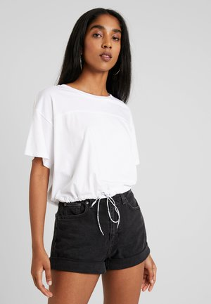 DRAWSTRING TEE - Print T-shirt - white