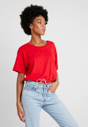DRAWSTRING TEE - Triko s potiskem - brilliant red
