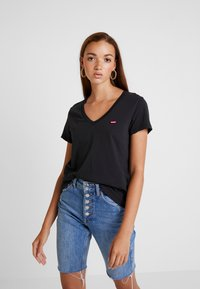Levi's® - PERFECT V NECK - T-shirt con stampa - caviar - 0