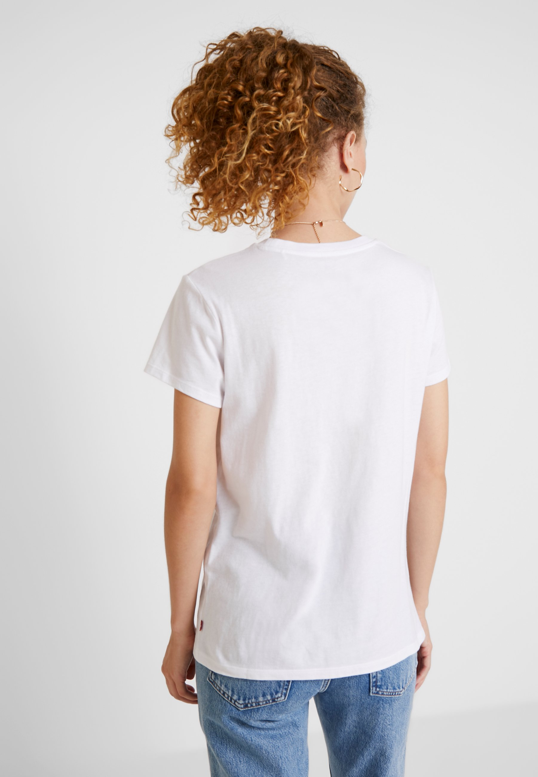 Levi's® THE PERFECT TEE - T-shirt imprimé hsmk outline white