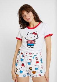 Levi's® - LEVI'S® X HELLO-KITTY  PERFECT RINGER TEE - T-shirts print - perfect white - 0