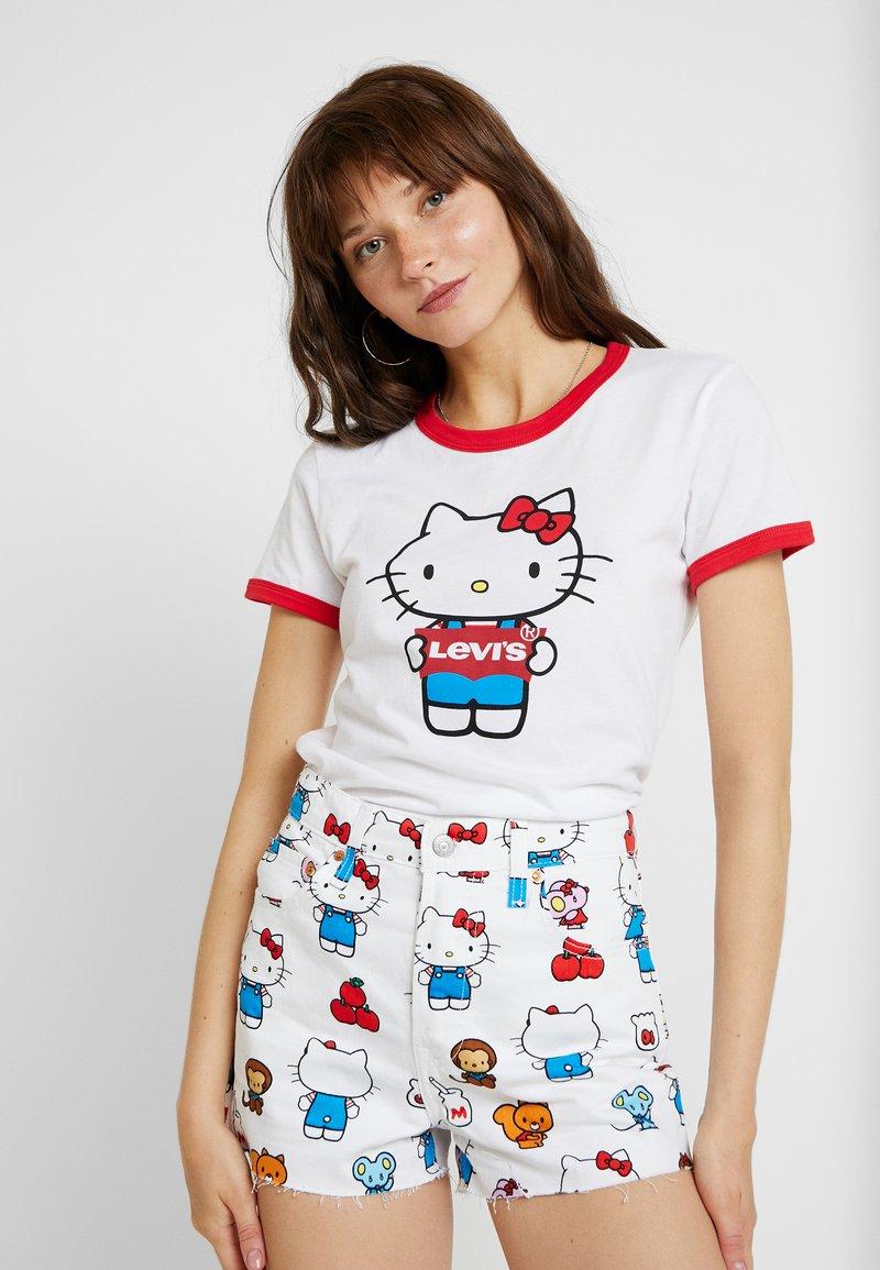 Levi's® - LEVI'S® X HELLO-KITTY  PERFECT RINGER TEE - T-Shirt print - perfect white